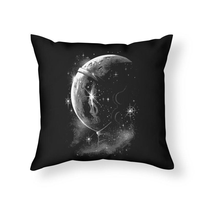 Lost in space B/W  Home Throw Pillow by ES427's Artist Shop