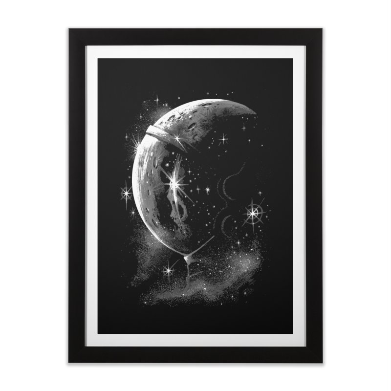Lost in space B/W  Home Framed Fine Art Print by ES427's Artist Shop