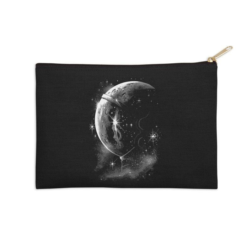Lost in space B/W  Accessories Zip Pouch by ES427's Artist Shop