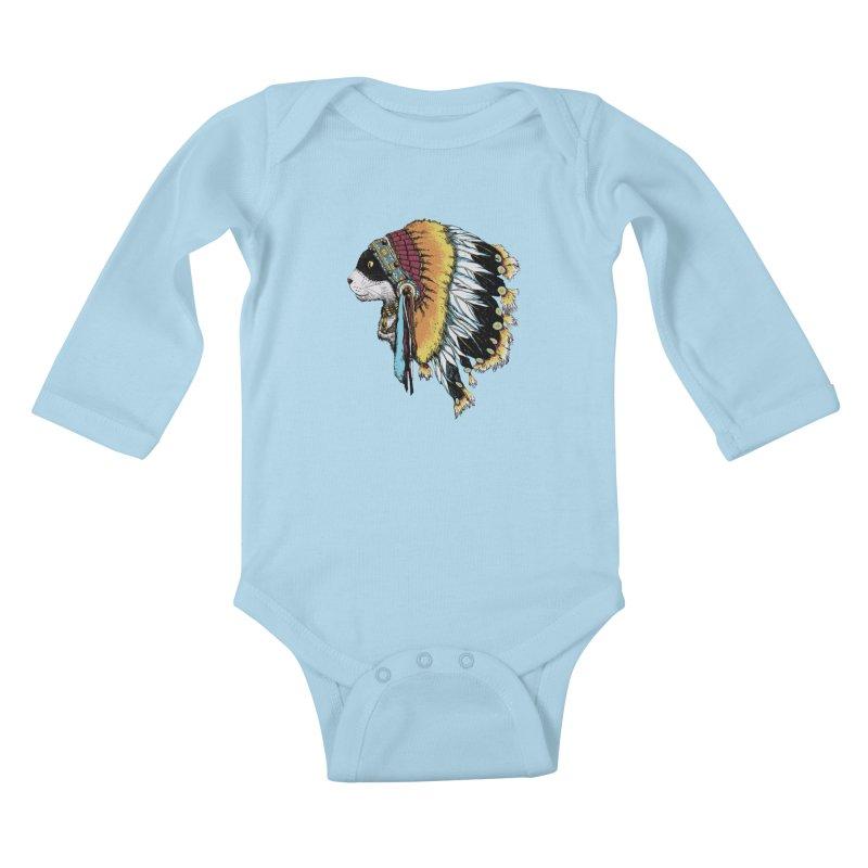 CHIEFCAT Kids Baby Longsleeve Bodysuit by ES427's Artist Shop