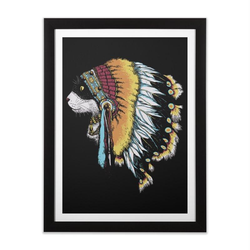 CHIEFCAT Home Framed Fine Art Print by ES427's Artist Shop