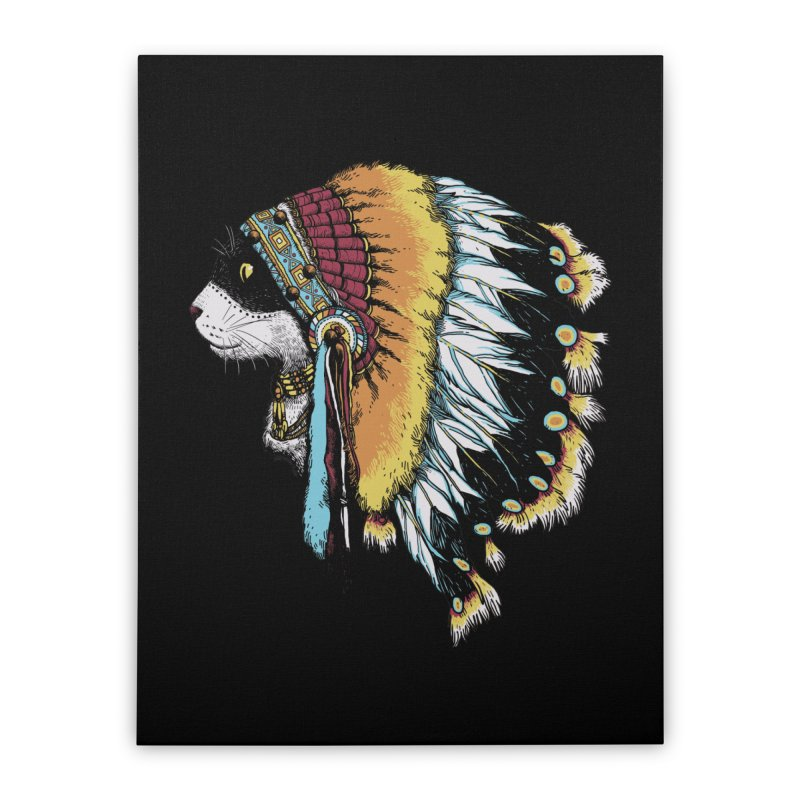 CHIEFCAT Home Stretched Canvas by ES427's Artist Shop