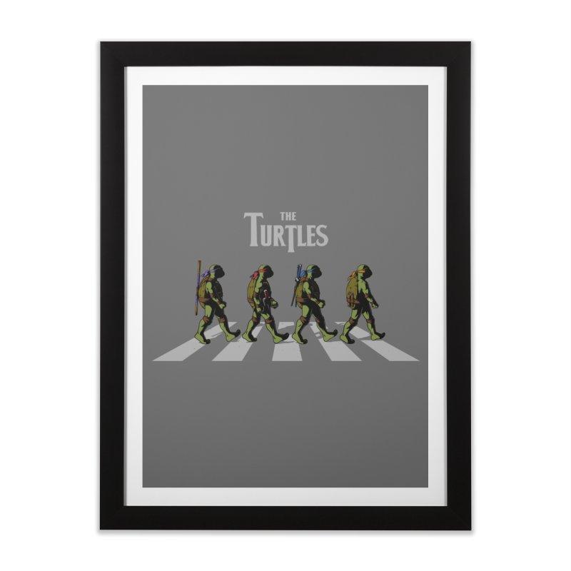 The Turtles Home Framed Fine Art Print by ES427's Artist Shop