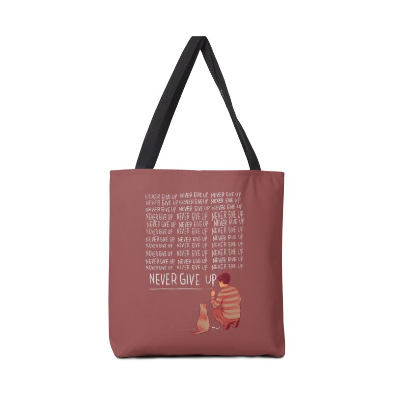 NEVER GIVE UP Accessories Bag by ES427's Artist Shop