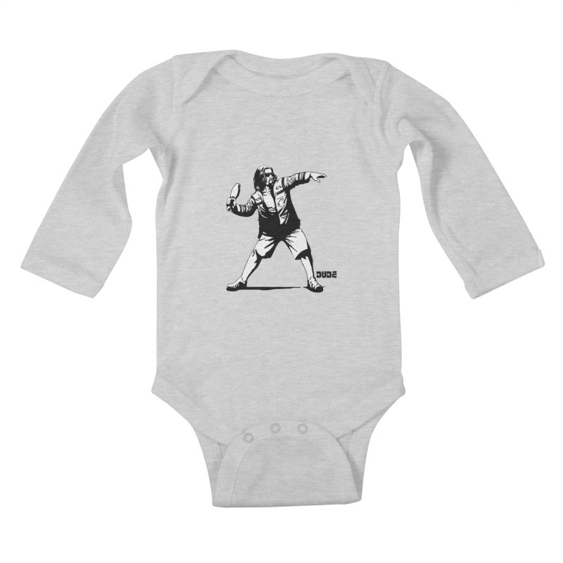 THE DUDE Kids Baby Longsleeve Bodysuit by ES427's Artist Shop