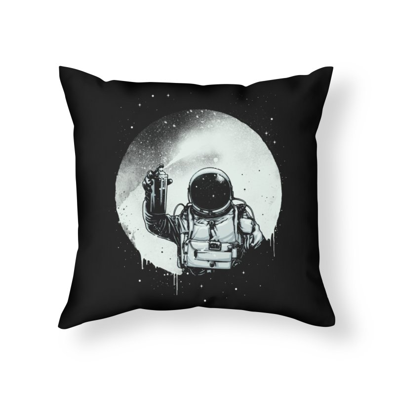 Paint the moon Home Throw Pillow by ES427's Artist Shop
