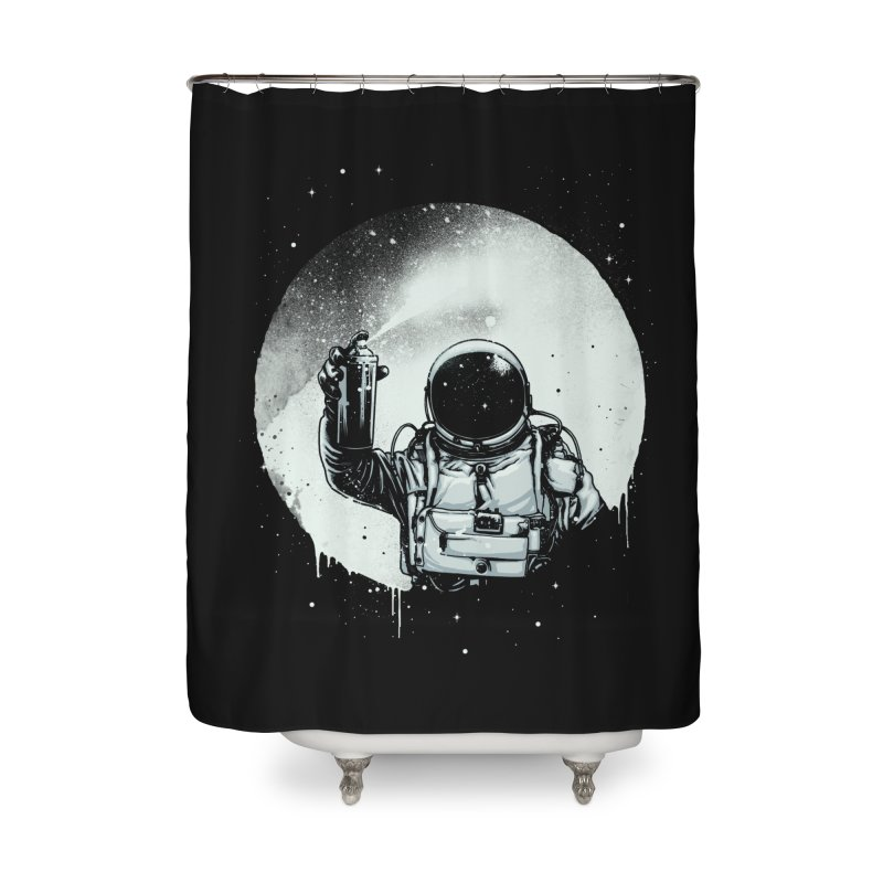 Paint the moon Home Shower Curtain by ES427's Artist Shop