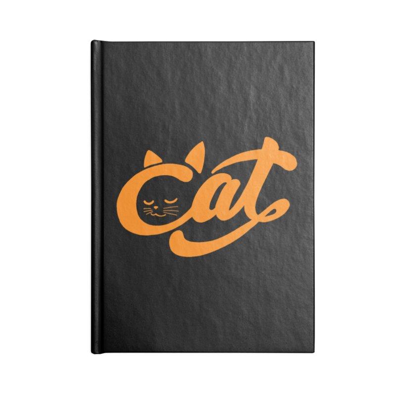 Sleeping Cat Accessories Notebook by ES427's Artist Shop