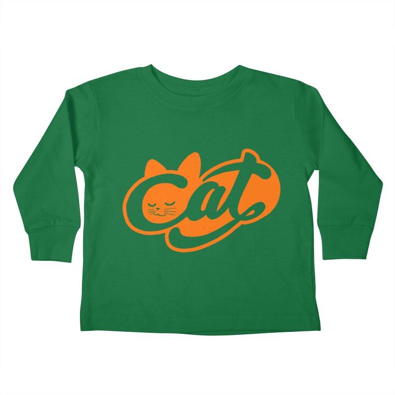 Sleeping Cat too Kids Toddler Longsleeve T-Shirt by ES427's Artist Shop
