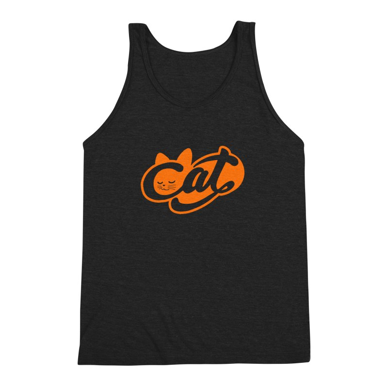 Sleeping Cat too Men's Triblend Tank by ES427's Artist Shop