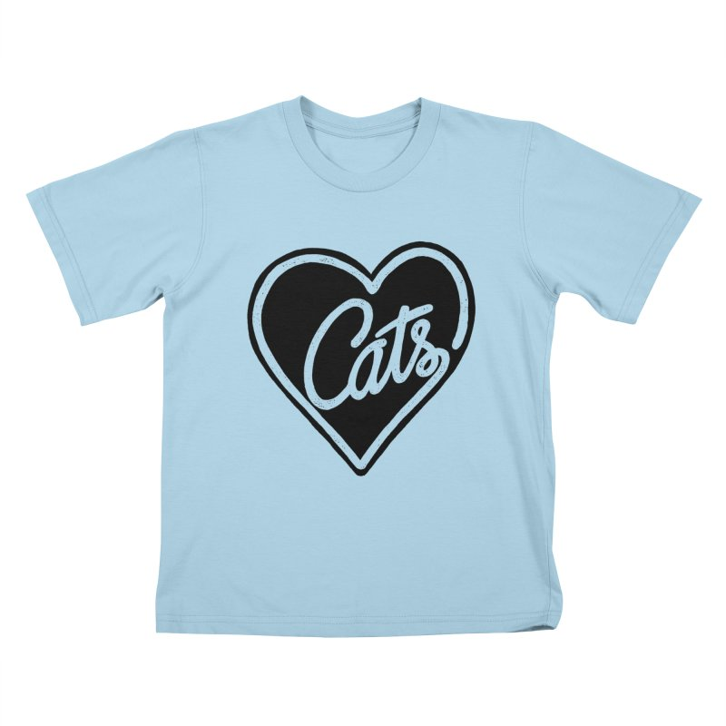LOVECATS Kids T-shirt by ES427's Artist Shop