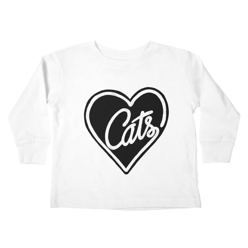 LOVECATS Kids Toddler Longsleeve T-Shirt by ES427's Artist Shop