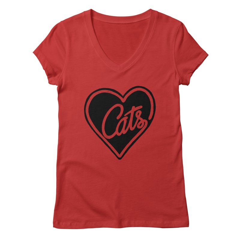 LOVECATS Women's V-Neck by ES427's Artist Shop