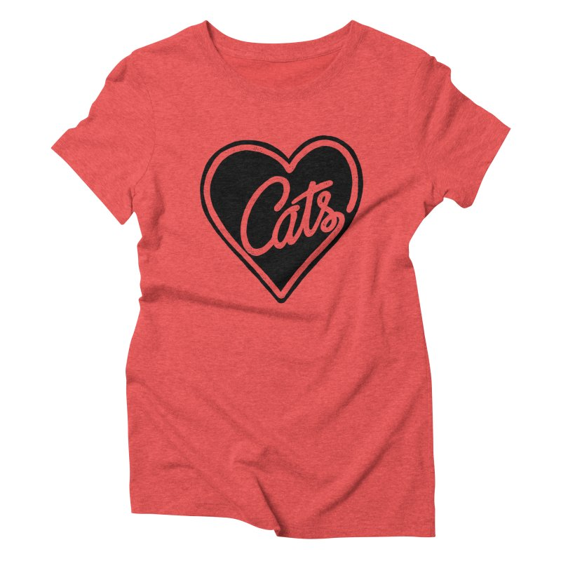 LOVECATS Women's Triblend T-shirt by ES427's Artist Shop