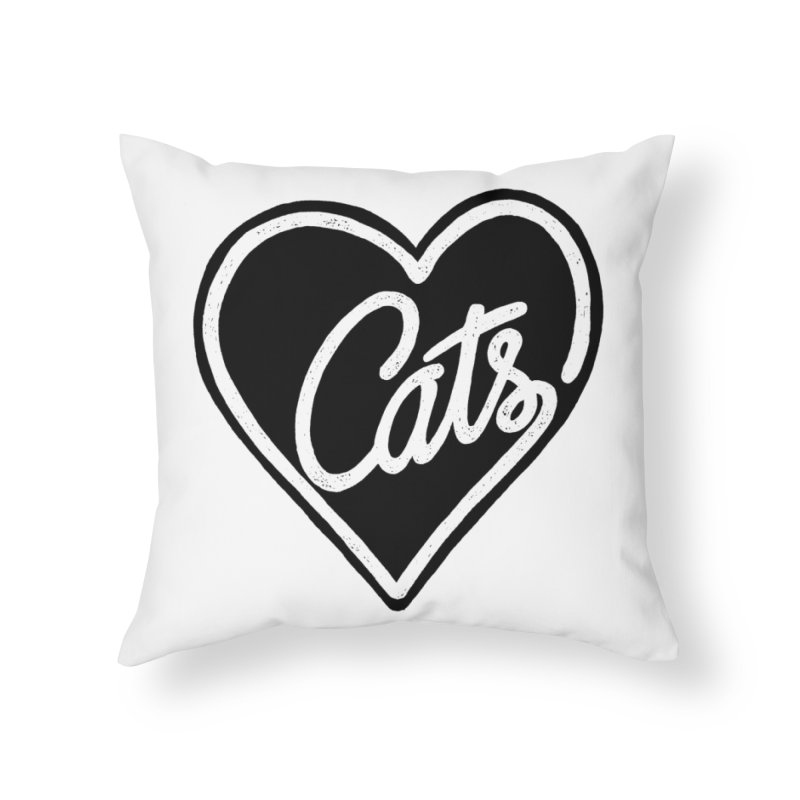 LOVECATS Home Throw Pillow by ES427's Artist Shop