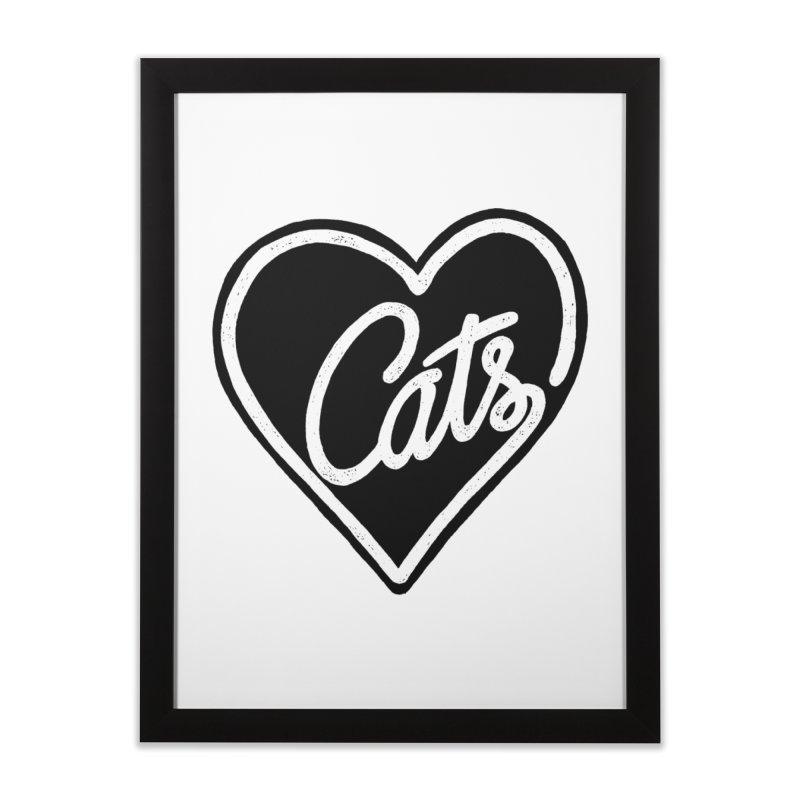 LOVECATS Home Framed Fine Art Print by ES427's Artist Shop