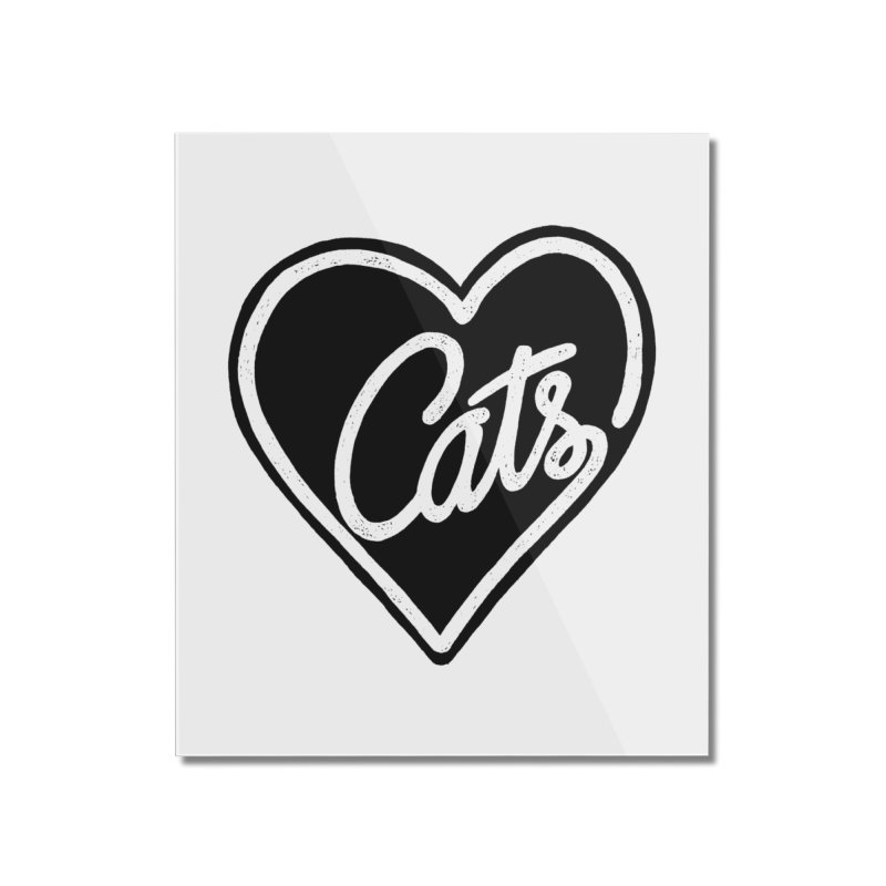 LOVECATS Home Mounted Acrylic Print by ES427's Artist Shop