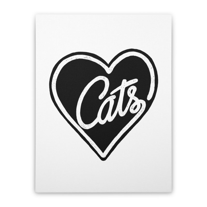 LOVECATS Home Stretched Canvas by ES427's Artist Shop