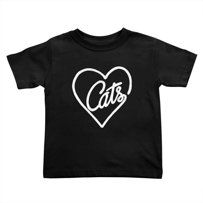 Lovecats(white) Kids Toddler T-Shirt by ES427's Artist Shop