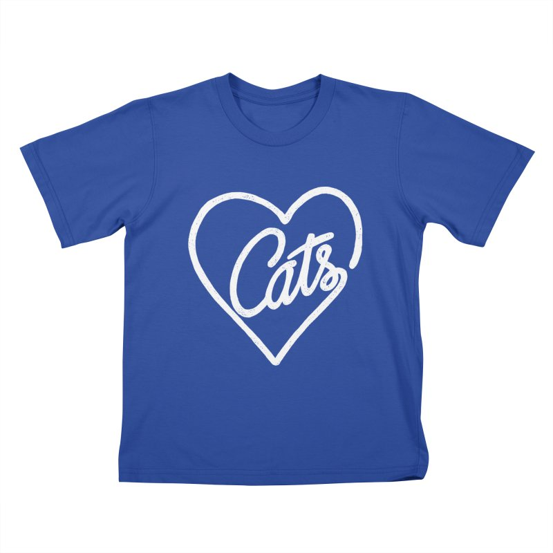 Lovecats(white) Kids T-shirt by ES427's Artist Shop