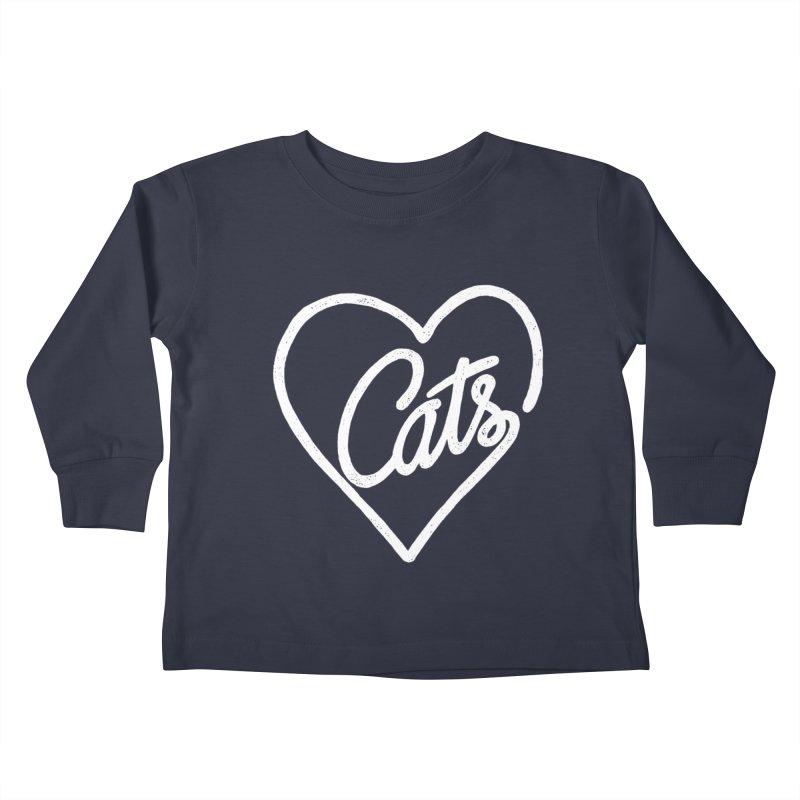Lovecats(white) Kids Toddler Longsleeve T-Shirt by ES427's Artist Shop