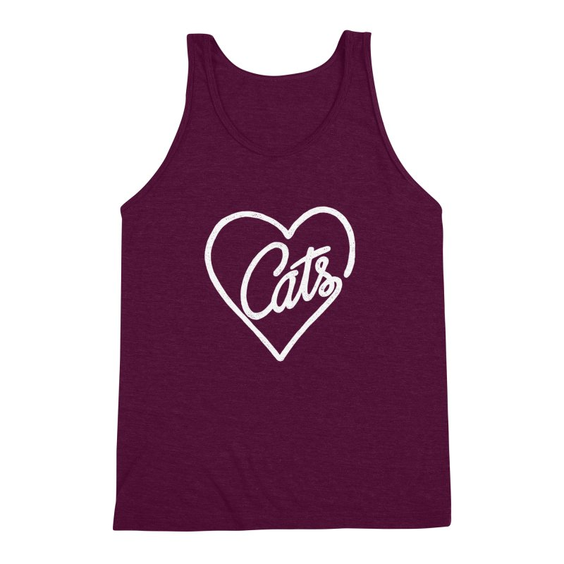 Lovecats(white) Men's Triblend Tank by ES427's Artist Shop