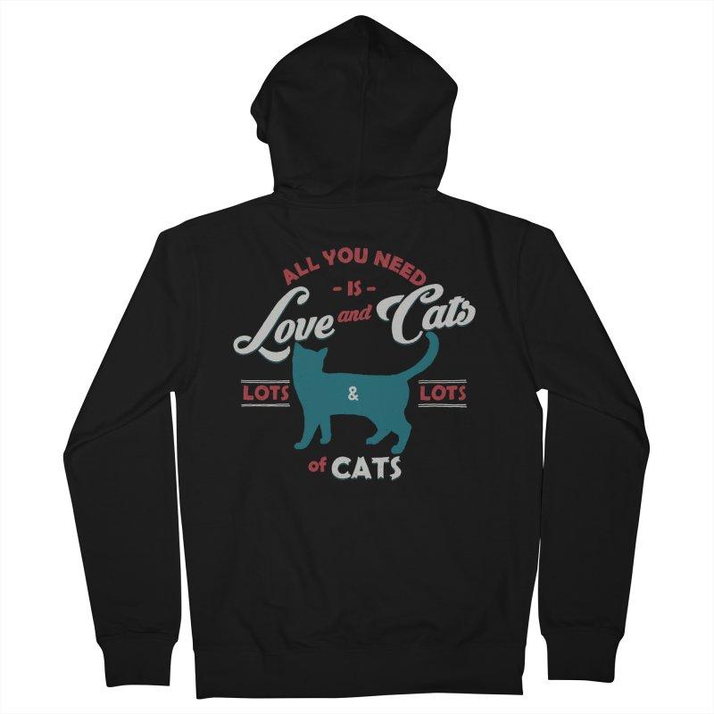 Love and Cats Men's Zip-Up Hoody by ES427's Artist Shop