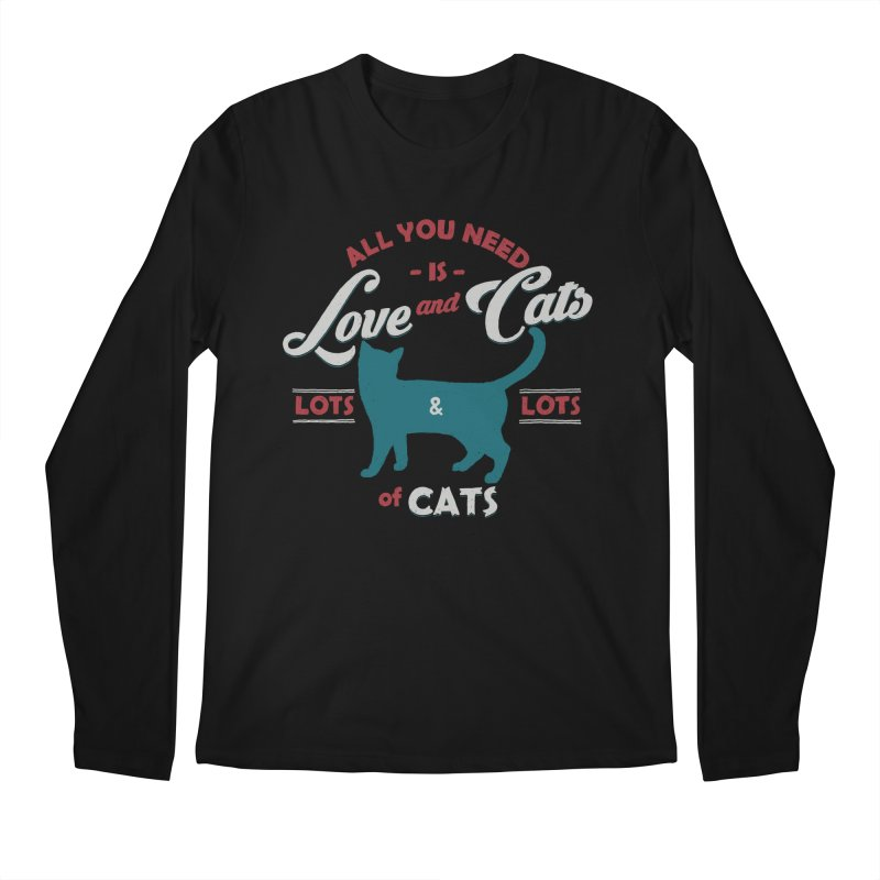 Love and Cats Men's Longsleeve T-Shirt by ES427's Artist Shop