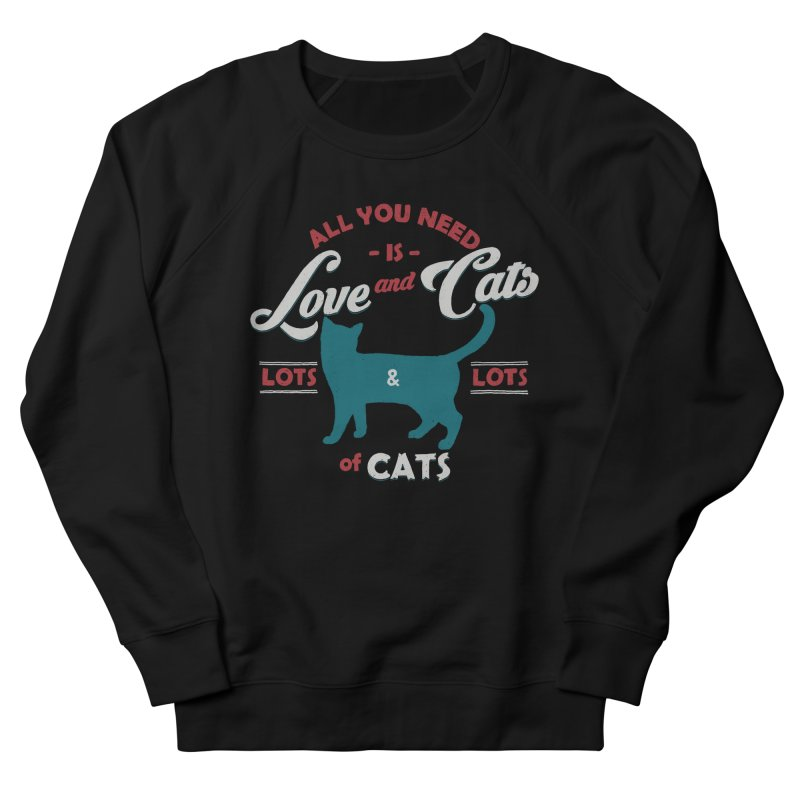Love and Cats Men's Sweatshirt by ES427's Artist Shop