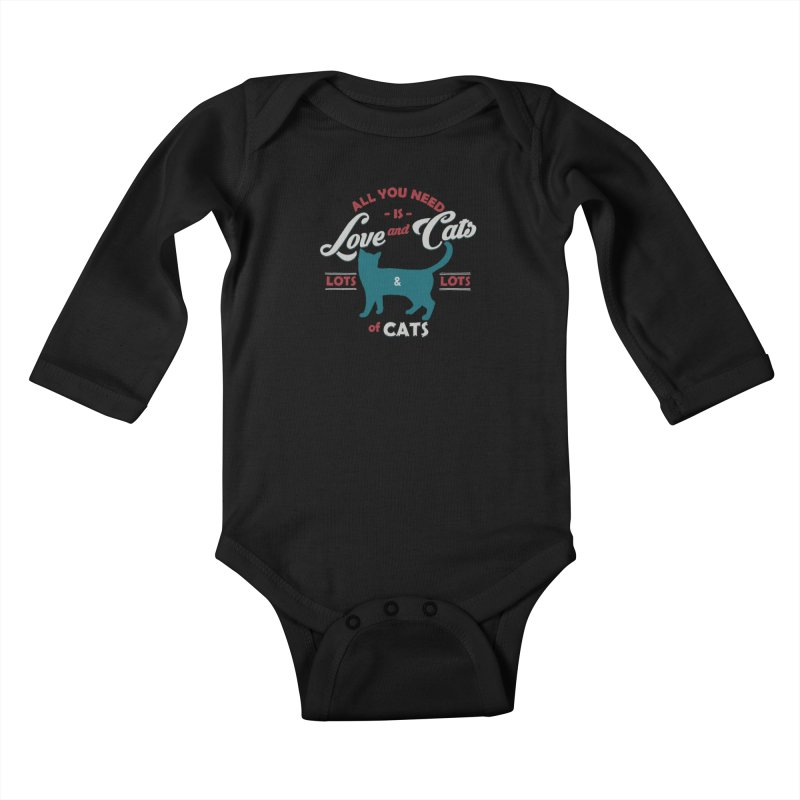 Love and Cats Kids Baby Longsleeve Bodysuit by ES427's Artist Shop