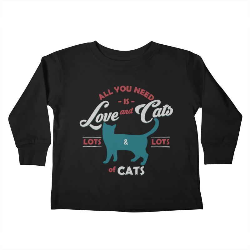 Love and Cats Kids Toddler Longsleeve T-Shirt by ES427's Artist Shop