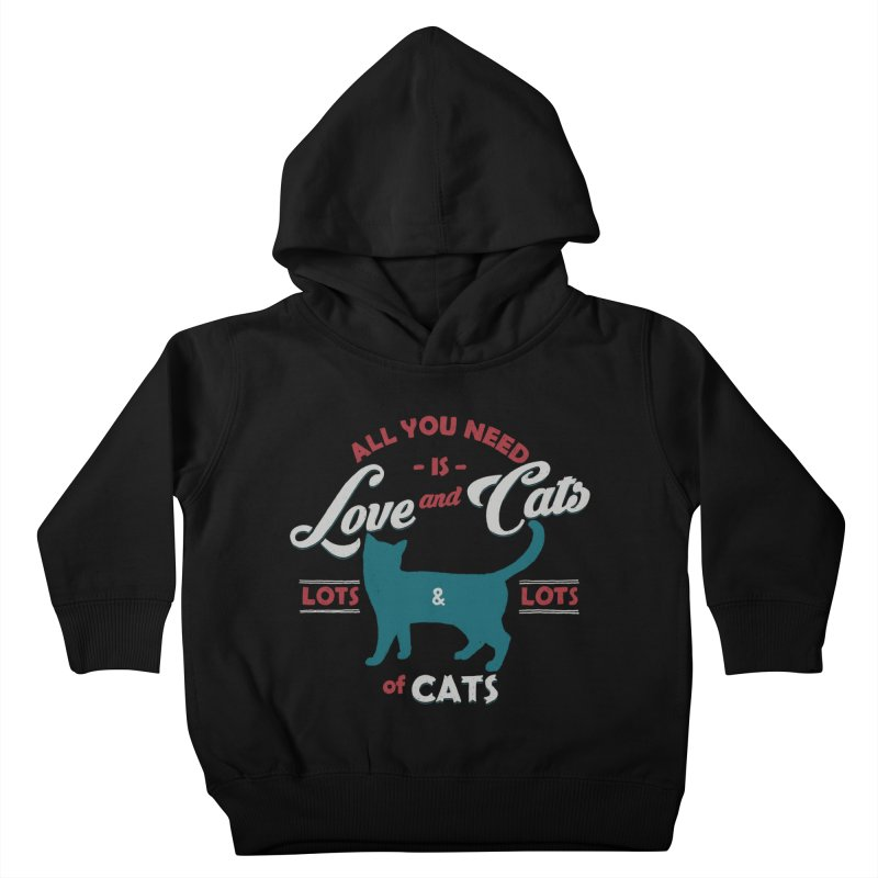Love and Cats Kids Toddler Pullover Hoody by ES427's Artist Shop