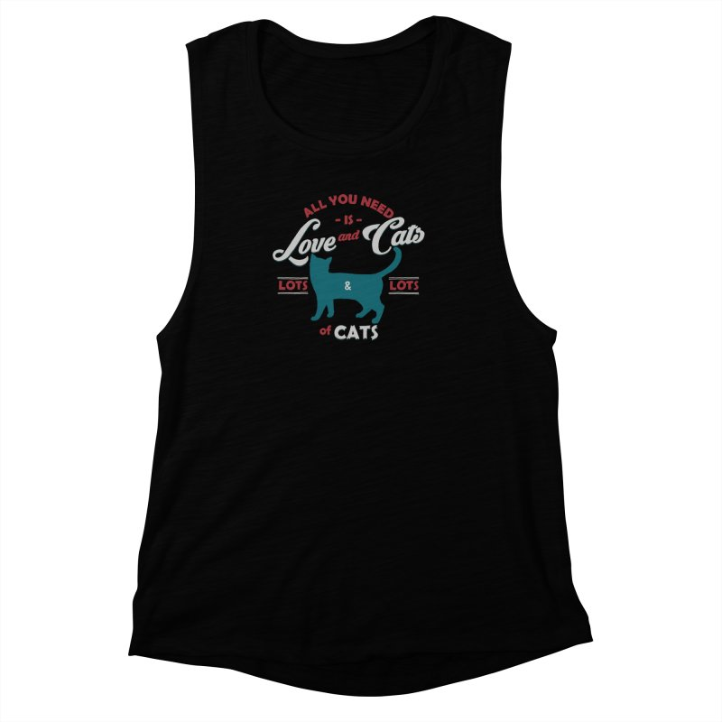 Love and Cats Women's Muscle Tank by ES427's Artist Shop