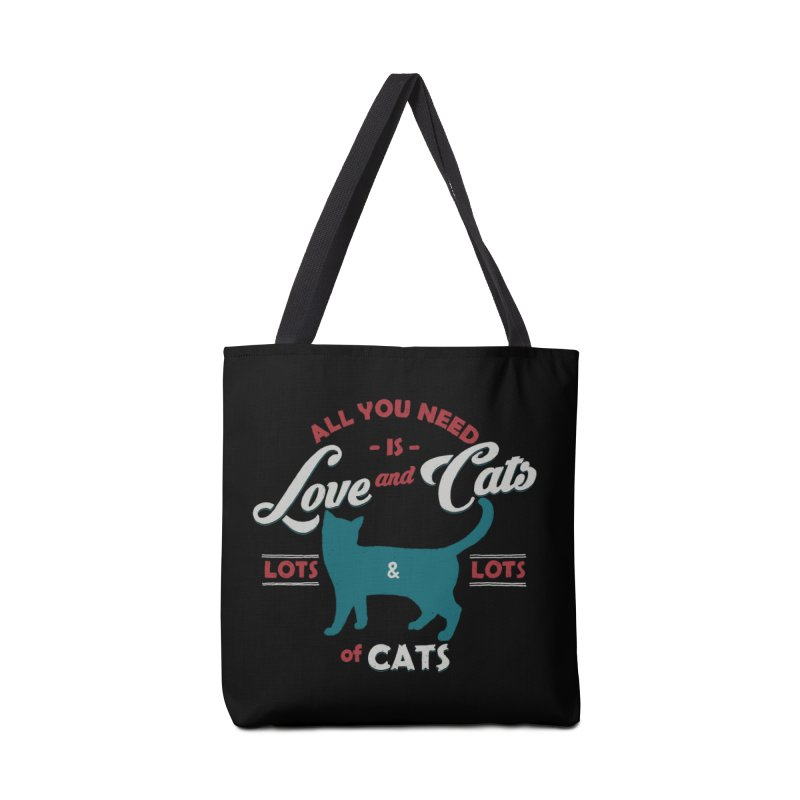Love and Cats Accessories Bag by ES427's Artist Shop