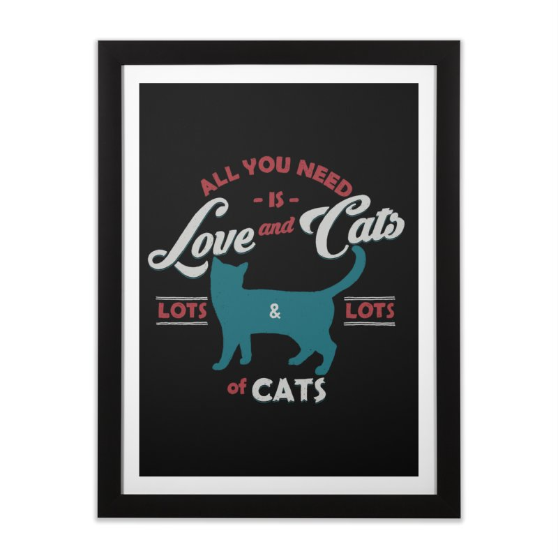 Love and Cats Home Framed Fine Art Print by ES427's Artist Shop