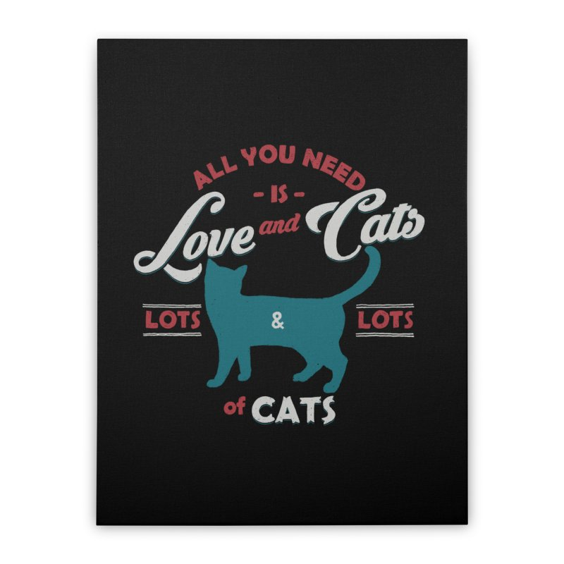 Love and Cats Home Stretched Canvas by ES427's Artist Shop