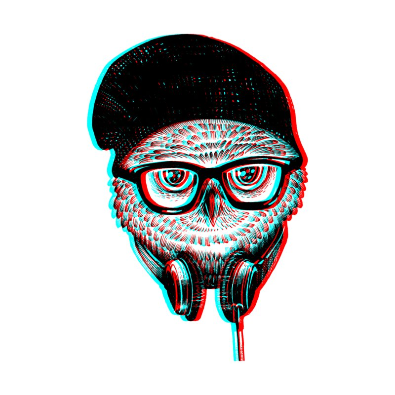 Hipster Owl None  by ES427's Artist Shop