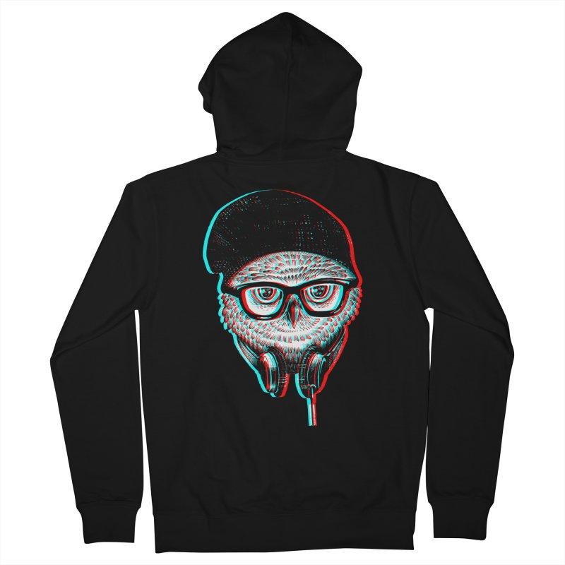 Hipster Owl Men's Zip-Up Hoody by ES427's Artist Shop