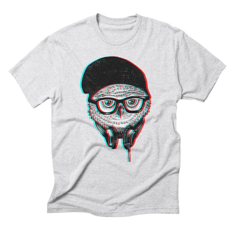 Hipster Owl Men's Triblend T-Shirt by ES427's Artist Shop