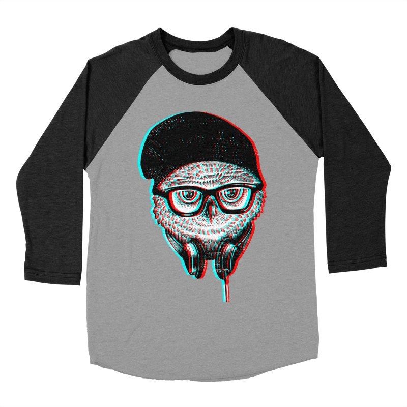 Hipster Owl Women's Baseball Triblend T-Shirt by ES427's Artist Shop