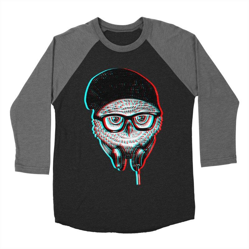 Hipster Owl Men's Baseball Triblend T-Shirt by ES427's Artist Shop
