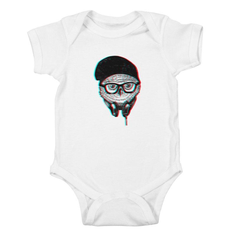 Hipster Owl Kids Baby Bodysuit by ES427's Artist Shop