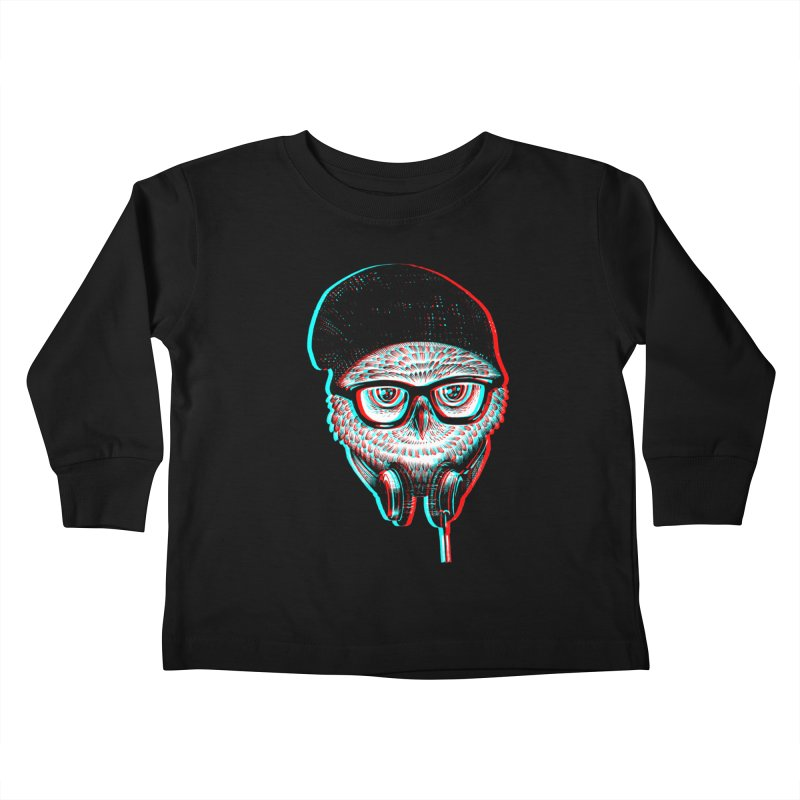 Hipster Owl Kids Toddler Longsleeve T-Shirt by ES427's Artist Shop