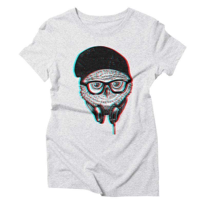 Hipster Owl Women's Triblend T-Shirt by ES427's Artist Shop