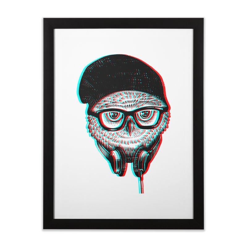 Hipster Owl Home Framed Fine Art Print by ES427's Artist Shop