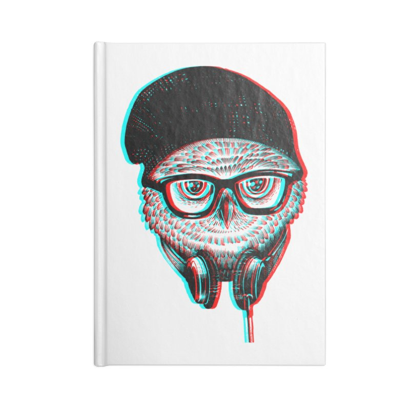 Hipster Owl Accessories Notebook by ES427's Artist Shop
