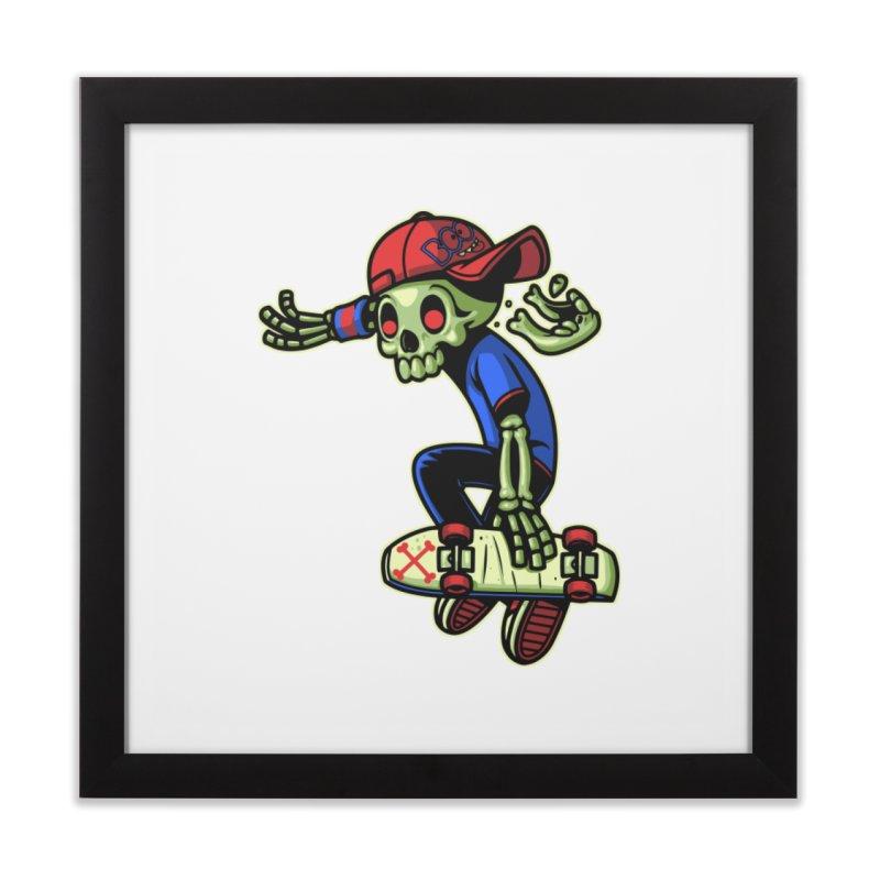 Boo! Home Framed Fine Art Print by ES427's Artist Shop
