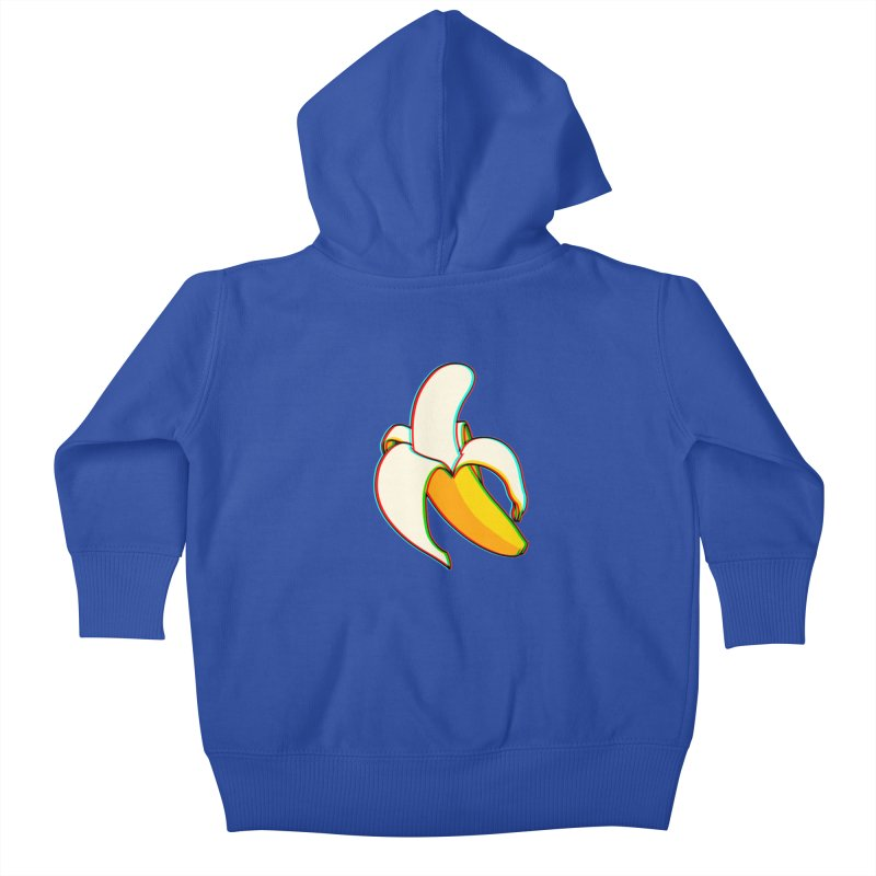 Banana Focus Kids Baby Zip-Up Hoody by ES427's Artist Shop
