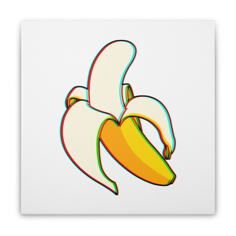 Banana Focus Home Stretched Canvas by ES427's Artist Shop