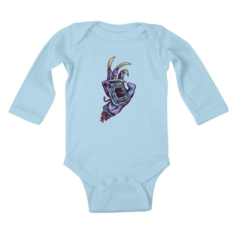 Slasher Hand Kids Baby Longsleeve Bodysuit by ES427's Artist Shop